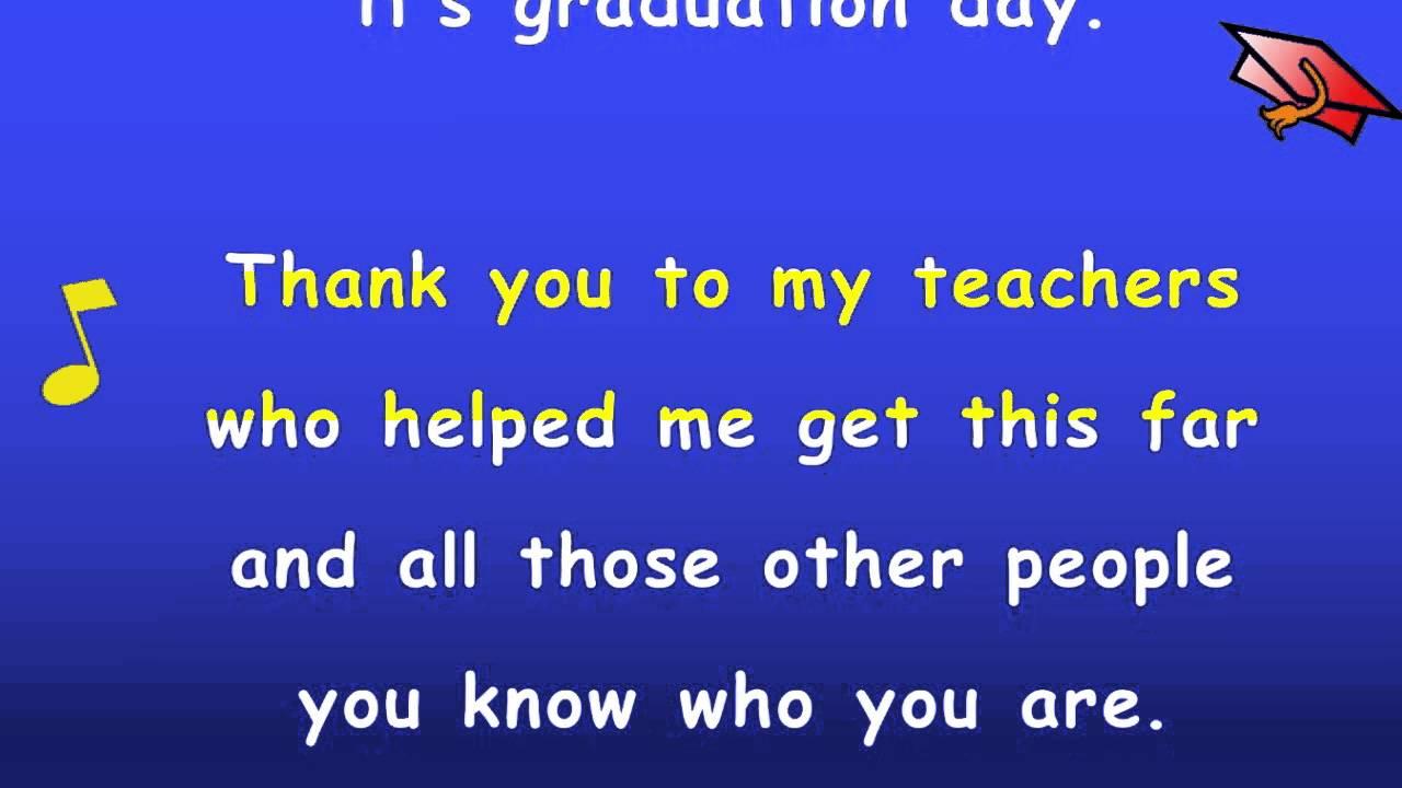 What is a sample of a kindergarten graduation speech?