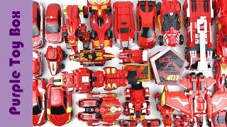 35 Red Transformer Toys, Dinosaur Animal Car Airplane Robot Toys