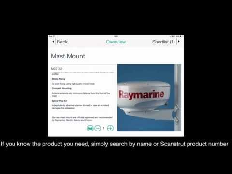 Using the Scanstrut Product Finder App