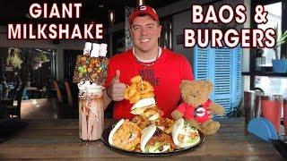 Chairman Bao Challenge w/ Burger & Deluxe Milkshake!!