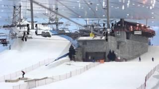Caroline Wozniacki chills out at Ski Dubai
