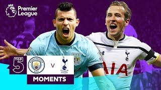 Manchester City v Tottenham Hotspur | Top 5 Moments