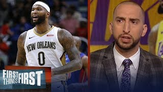 Nick and Cris react to DeMarcus Cousins signing 1-yr deal with Warriors | NBA | FIRST THINGS FIRST