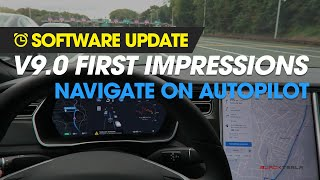 Software Update - v9 Navigate On Autopilot First Impressions (Toll booths & Stop Signs)