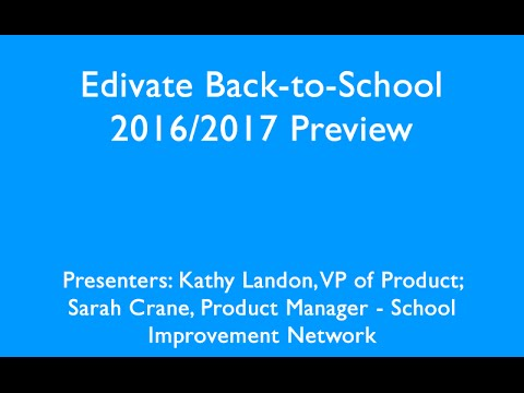 Edivate Back to School 2016 2017 Preview
