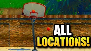 ''Score a basket on different hoops'' ALL LOCATIONS! [Fortnite: Week 2 Challenges]