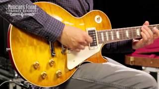 Gibson Custom 2014 1959 Les Paul Reissue Quilt Hand-picked Electric Guitar, Green Lemon