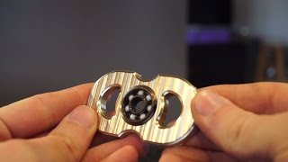 Diy fidget spinner- cnc machined brass