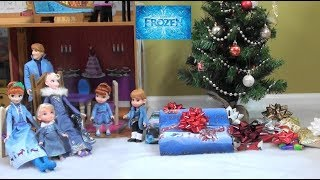 Princess Story: Disney Frozen Anna and Elsa Christmas Day and Presents, Christmas Gifts Opening