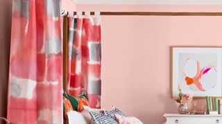 How to Sponge-Paint Curtains