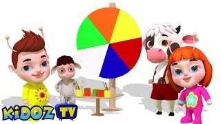 Let's Build the Color Wheel | Color Song for Children | Nursery Rhymes