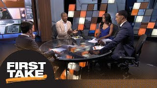 First Take debates how much pressure is on LeBron James after joining Lakers | First Take | ESPN