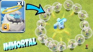 "IMMORTAL ICE GOLEM!!! ""Clash Of Clans"" TROLL ATTACK!!"