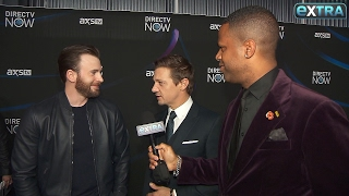 Chris Evans & Jeremy Renner Talk Taylor Swift and Beyoncé's Pregnancy at Super Bowl Pre-Party