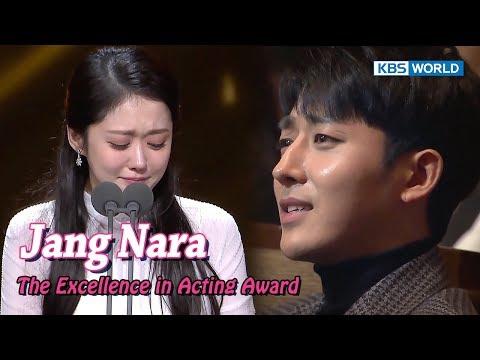 Jang Nara wins Excellence Award,
