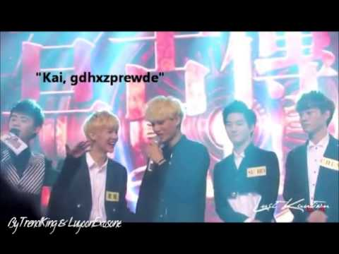 Exo - Kai and Luhan playing moment. Cute & funny
