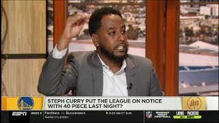 NBA THE JUMP - Amin Elhassan DEBATE: Curry put the league on notice with 40 piece last night?