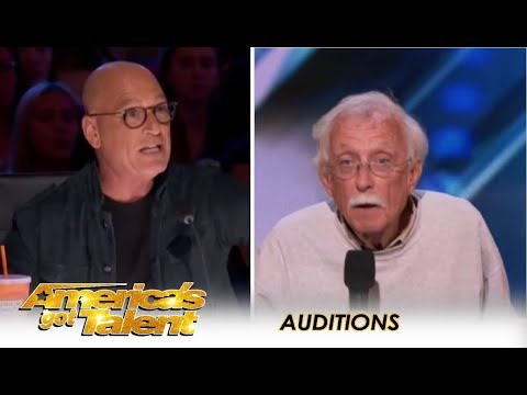 Watch What Happens When Howie Recognizes Fellow Comedian From Years Past   America's Got Talent 2018