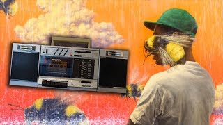 Tyler the Creator - Boredom but its Played on a 1988 Sony Boombox on a Rainy Day