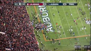 2013 Iron Bowl ending HIGH DEFINITION Auburn beats Alabama