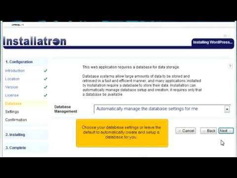 How to install WordPress in Installatron