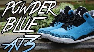 """""""Powder Blue"""" Air Jordan 3 Sneaker Review"""