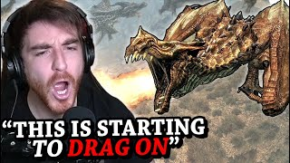 "Skyrim, but if I say ""dragon"" then 10 dragons spawn"