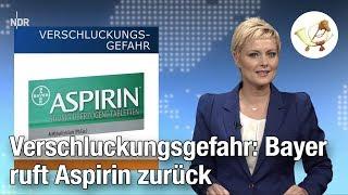 Verschluckungsgefahr: Bayer ruft Aspirin zurück