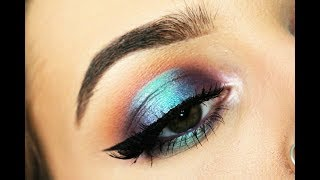 JACLYN HILL X MORPHE / Blue and Purple Halo Eye Tutorial | HollBarnes