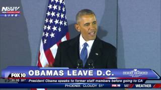 FNN: President Obama's FINAL Farewell Speech - Speaks to Former Staff at Joint Base Andrews