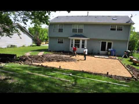 Backyard Basketball Court Build - YouTube
