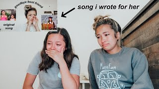 sister reacts to song i wrote for her *she cried*