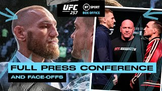 Full UFC 257 Press Conference and Face-offs: Dustin Poirier, Conor McGregor, Hooker and Chandler!