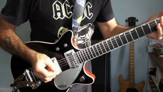 AC/DC Thunderstruck Malcolm Young's Part Played on my Gretsch Duo Jet G6128 - 1962