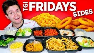 I tried all of TGI Friday's sides... THE WHOLE MENU! - Restaurant Taste Test!