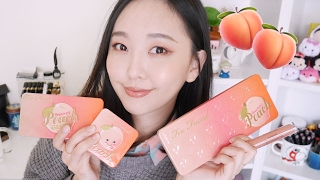 🍑Too Faced蜜桃全系列試色+妝容分享 Sweet Peach Collection Swatches & Demo