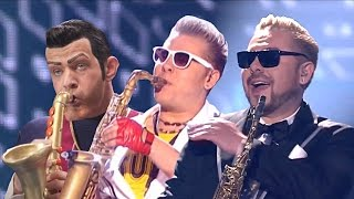 We Are Number One but it's co-performed by Epic Sax Guy AGAIN