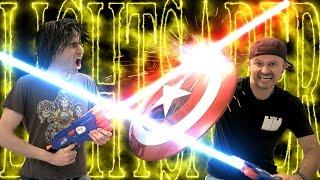 Nerf War: LIGHTSABER Gun 2!!