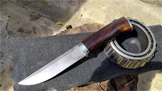 Making a knife from a bearing