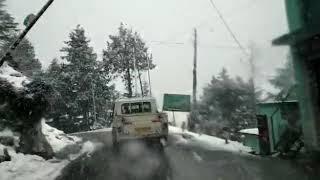 Snowfall at auli. Way to Auli, Chamoli, Uttarakhand