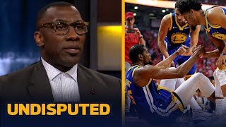 Shannon Sharpe isn't completely buying KD saying he doesn't blame GS for injury | NBA | UNDISPUTED
