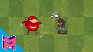 Ugandan Knuckles vs Plants vs Zombies Hack Animation