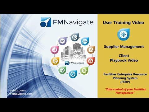 Facilities Management Software FM Navigate Supplier Management Module