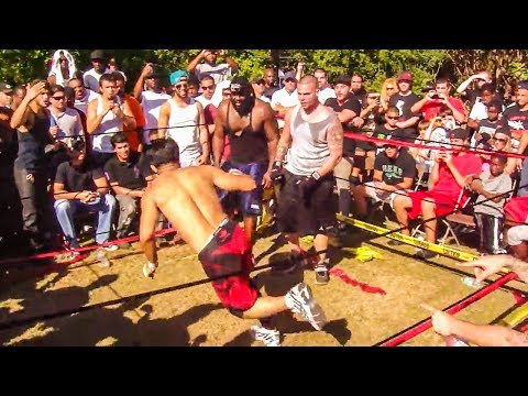 Muay Thai Legend vs Street Fighter Bare Knuckle Brawl - Unexpected KO?