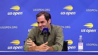 Roger Federer at US Open Media Day