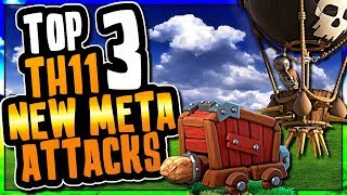 TOP 3 NEW META TH11 ATTACKS USING SIEGE MACHINES   Clash of Clans