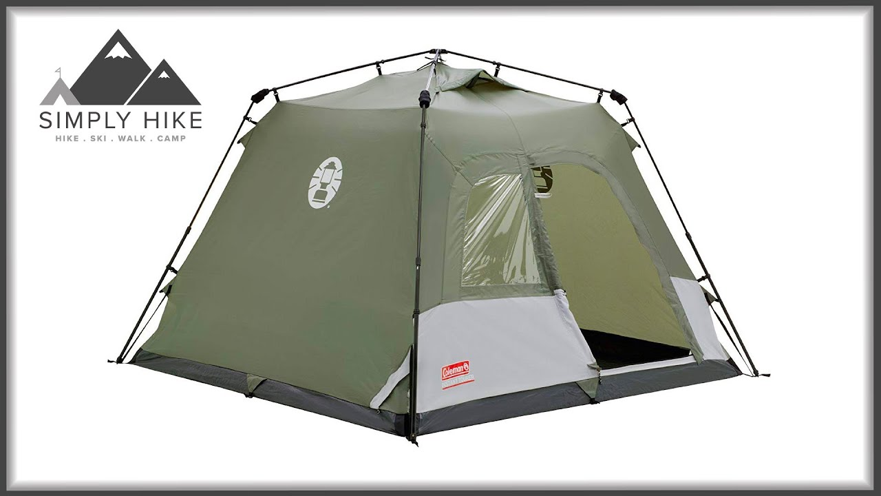 Coleman Instant 4 Www Simplyhike Co Uk Youtube