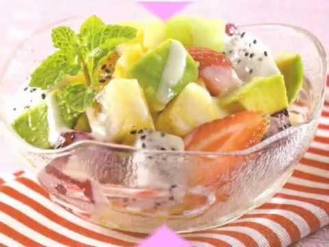 Cara Membuat Salad Buah Yogurt Keju