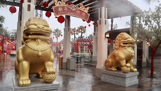 The Rainy and Empty Opening Day of Universal Studios Hollywood - Lunar New Year 2019 Celebration
