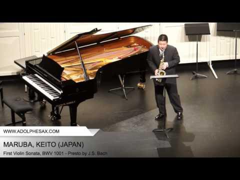 Dinant 2014 - Maruba, Keito - First Violin Sonata, BWV 1001 - Presto by J.S. Bach